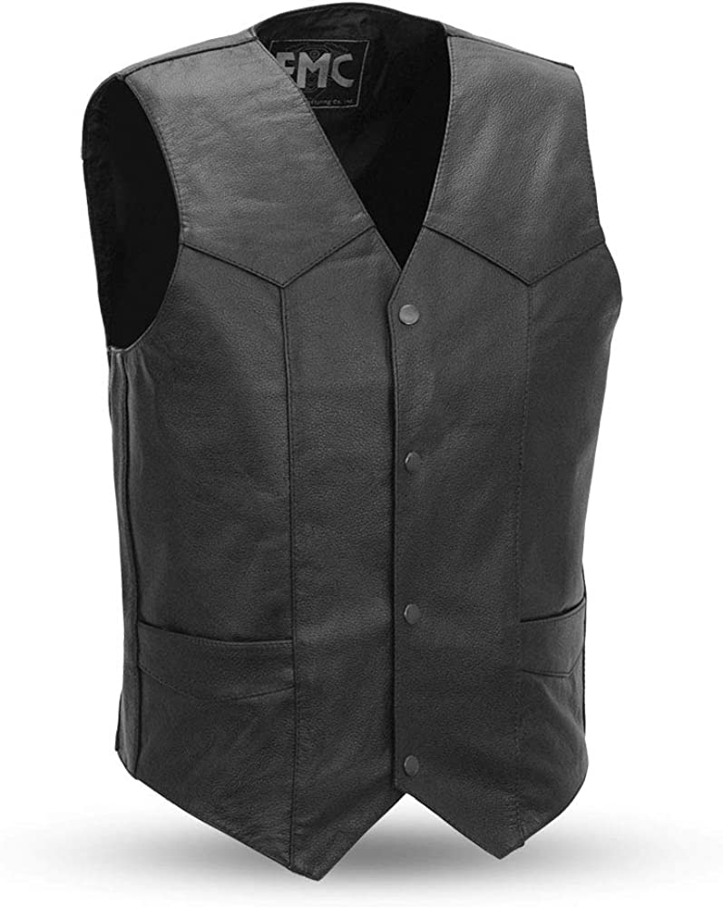 First Manufacturing 4 Snap Men's Classic Vest With Dual Side Internal Concealed Gun Pockets