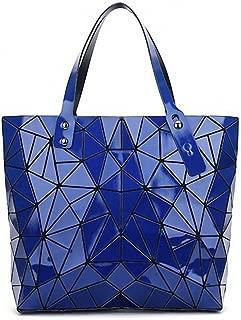 NEW Fashion Stone Bag Women Tote Fold Summer Issey Miyak Hand Bag Laser Geometric Designer Handbags Ladies Bolsa