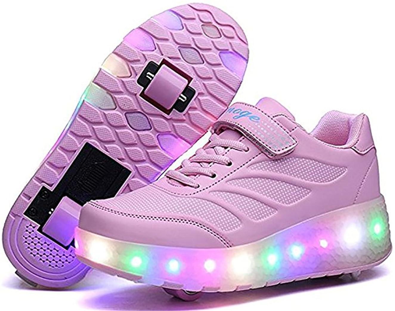 速度ノーブル嫉妬[cool light] 光る靴 子供 LEDスニーカー ローラーシューズ キッズ マジックテープ 羽根 フラッシュ スケッチャーズ 女の子 男の子 ダンスシューズ
