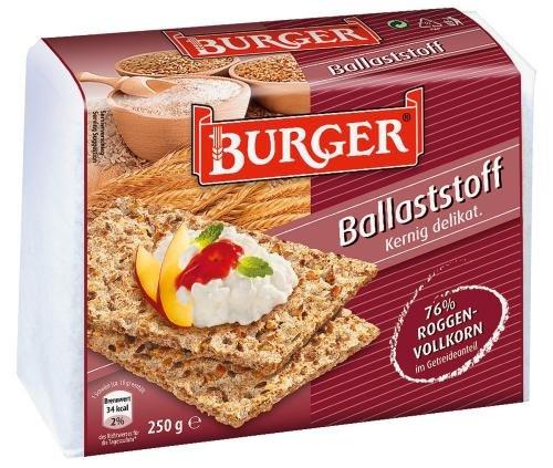 Burger Knäcke Ballaststoff, 12er Pack (12 x 250 g Packung)