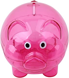 HENGSONG Candy Color Coin Money Saving piggy bank Rose Red
