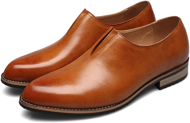 Shengjuanfeng Herren Ankle Schuhe Glatt PU-Leder oberen Slip-on atmungsaktiv Formale Business Oxfords (Farbe   Braun, Größe   CN24.5)  | Trendy