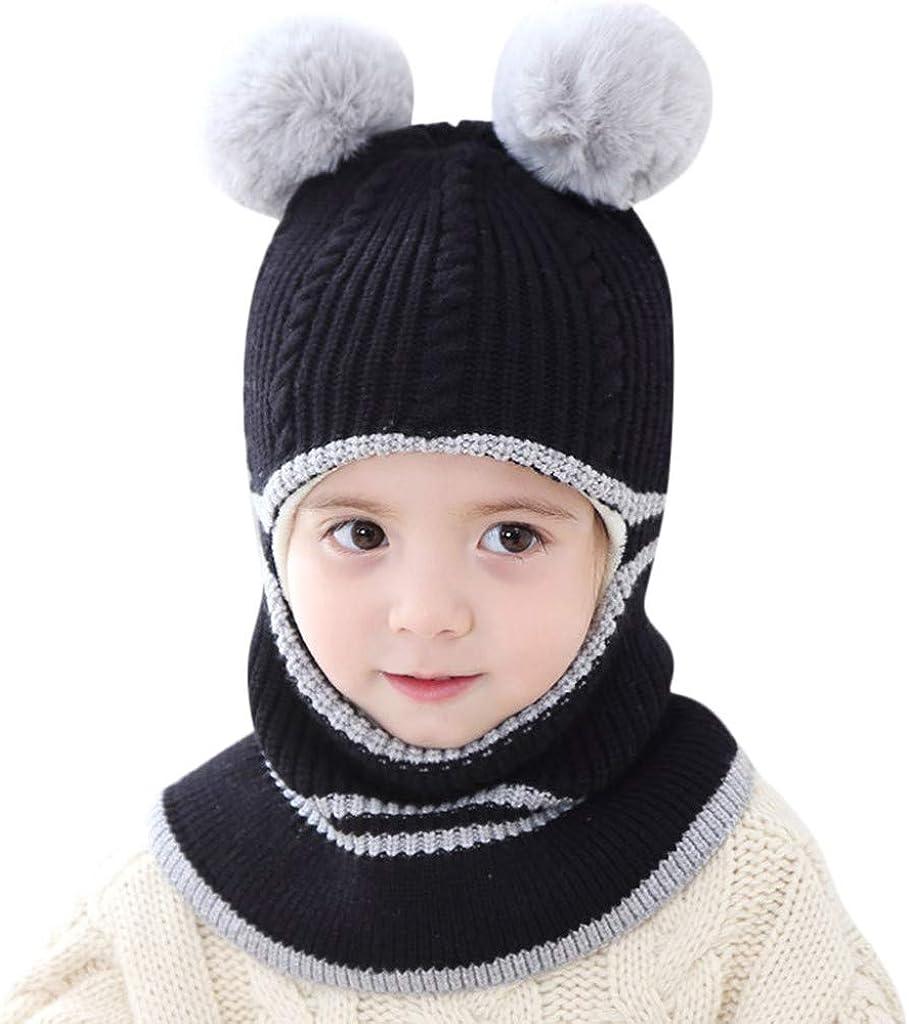 Winter Girls Hat Thickening Baby Wool Hat Korean Fashion Dome Hair Ball Warm Hat in The Big Bonnet