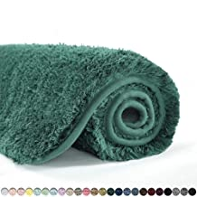 Suchtale Bathroom Rug Non Slip Bath Mat for Bathroom (16 x 24, Hunter Green) Water Absorbent Soft Microfiber Shaggy Bathro...