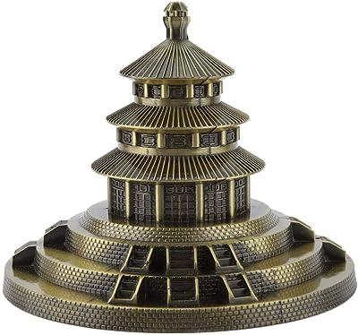 Hztyyier Metal Ornament Figurine, Beijing Temple Statue Hand Soldering Home Decor World Landmarks Cast Art Crafts Gifts