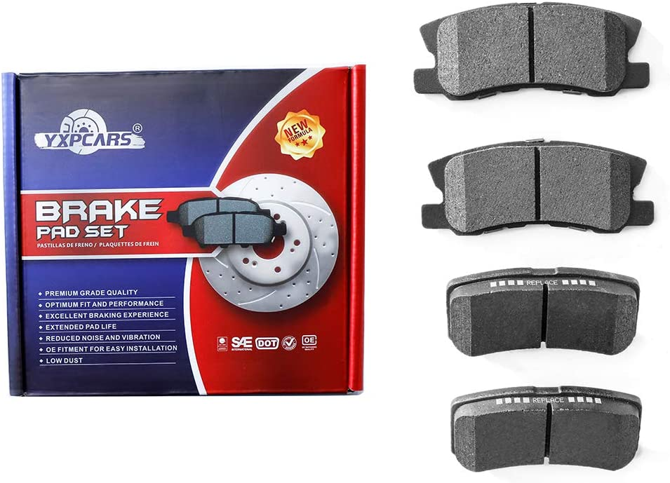 YXPCARS Rear Ceramic Brake Pads for 1年保証 CHRYSLER 200 DODGE SEBRING A メーカー公式
