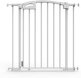 Perma Auto Close & Locking Safe Step Baby Gate, Pressure Mounted, White