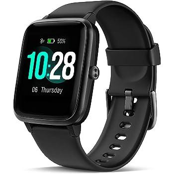 LATEC Smartwatch, Reloj Inteligente Impermeable con Pulsómetro ...