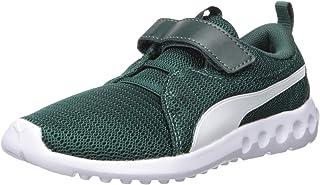 PUMA Unisex-Baby Carson 2 Velcro Sneaker, ponderosapine-White, 6 M US Toddler