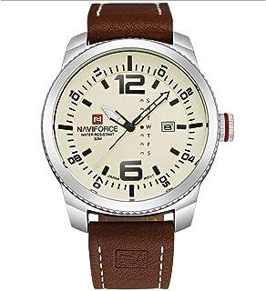 52352760f Neotrix NAVIFORCE Military Analog Quartz Leather Strap Wrist Watch, 30M  Waterproof Sport Mens Watch -