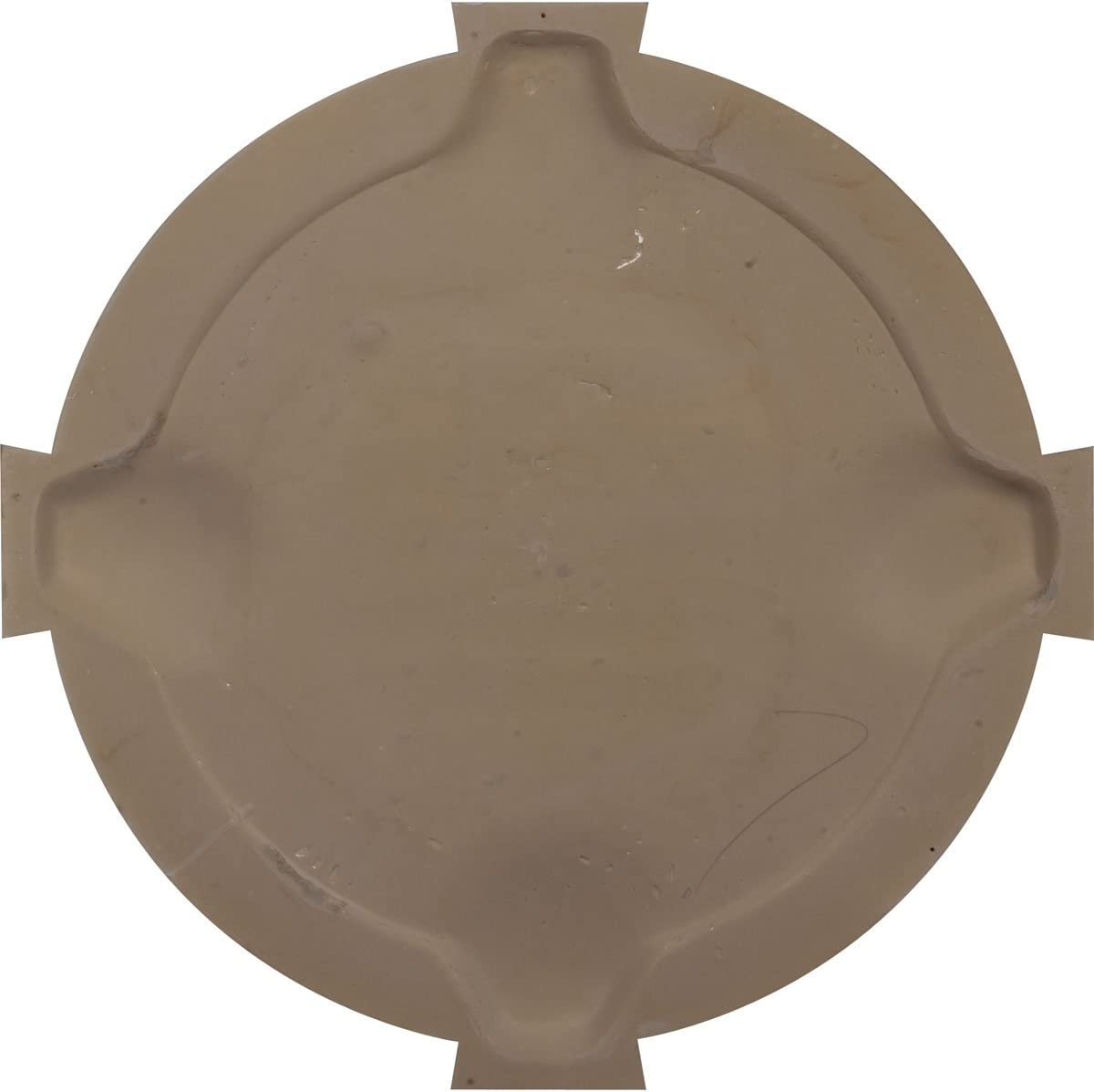 Functional Ekena Millwork GVRO24TFK Round Gable Vent with Keystones Factory Primed White 24W x 24H x 1 1//8P