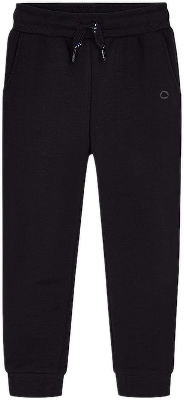 Mayoral - Basic Cuffed Fleece Trousers for Boys - 0725, Coal
