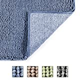 Cosy Home - Bath Rugs de 50 x 80 cm, 100% poliéster, extra suave y sin Slip Bathroom Mats Specialized in máquina Washable and Water Absorbente Shower Mate (Azul)