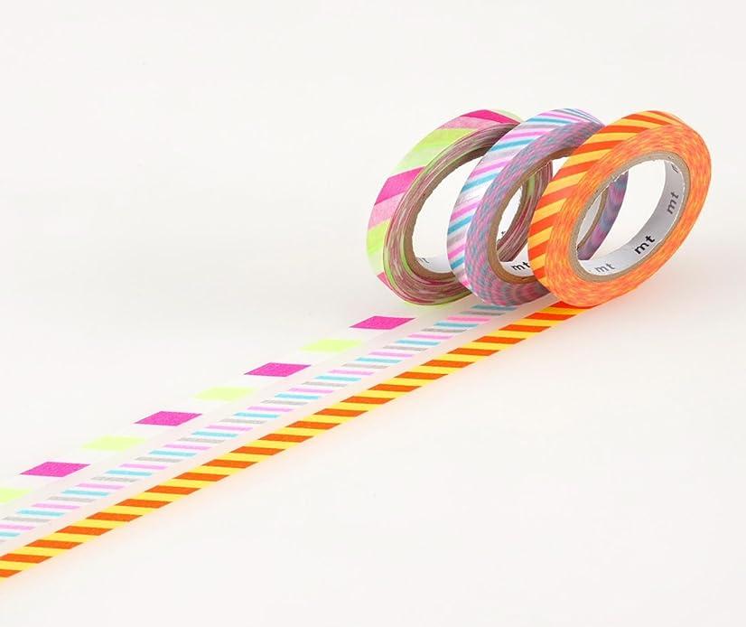 MT Washi Masking Tape, Slim, Twist Cord B, 6mm x 10m x 3 (MTSLIM11)