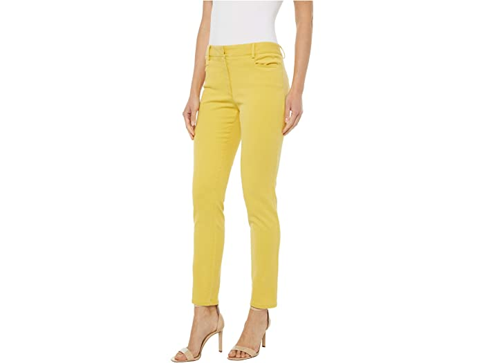 Elliott Lauren Pigment Dye Fly Front Ankle Pants Yellow