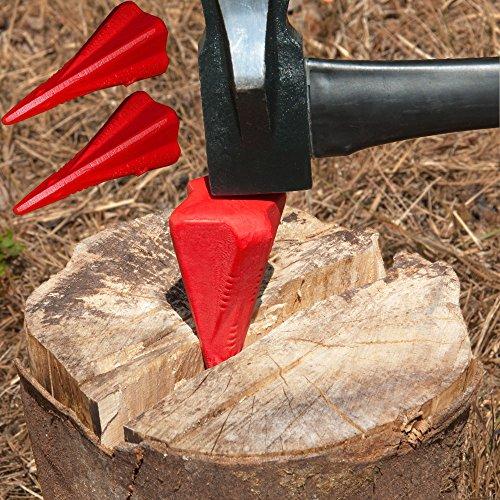 Deuba 3X Spaltkeil aus Carbon-Stahl Ø 7,5cm Keil Spaltgranate Holzspaltkeil Holzspalter Fällkeil Scheitkeil Drehkeil