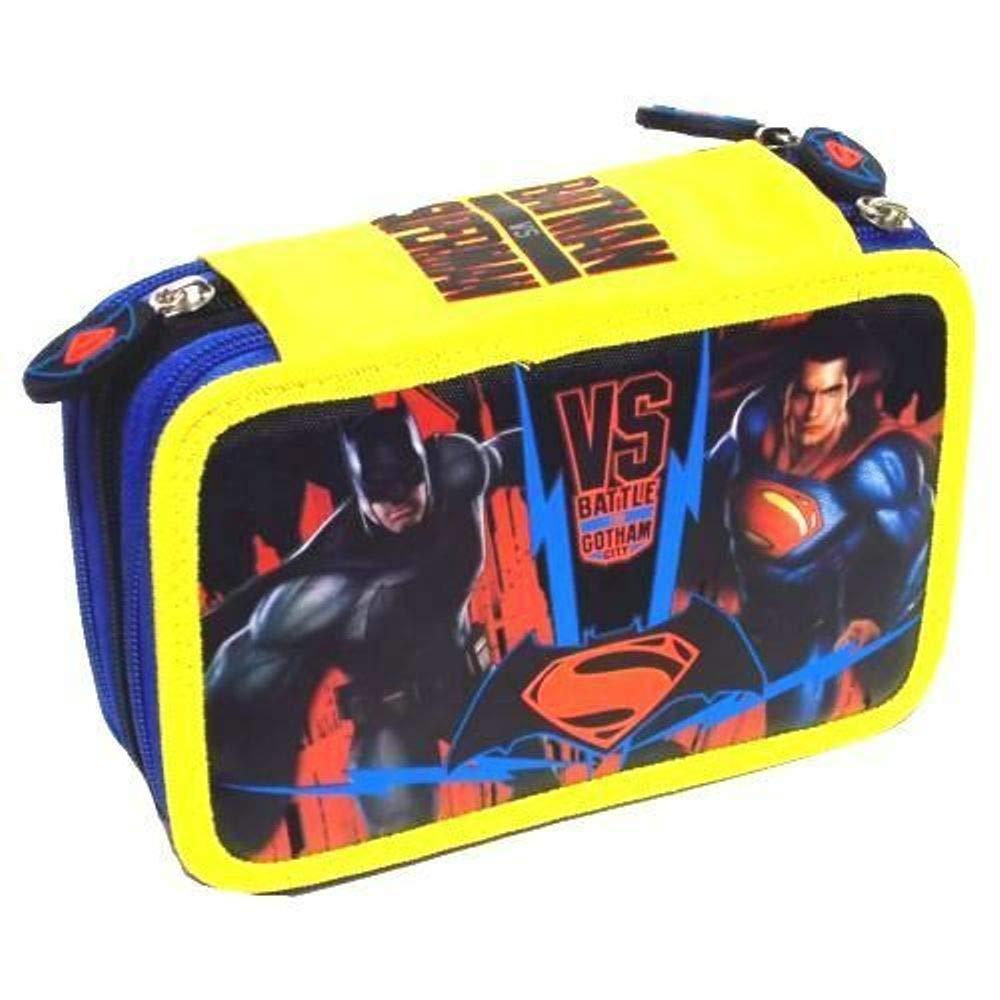 Estuche Batman VS Superman completo de 3 pisos + llavero silbato: Amazon.es: Oficina y papelería