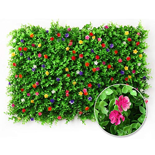 Expanding Artificial Flower Fence - Eucalyptus Leaf Hedg Panels Wooden Hedge Retractable Trellis Screening Privacy Screen Telescopic Fencing Panel UV Protected For Balcony Backyard Home Patio 4060CM