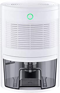 OPcFKV Dehumidifier - Portable Small Dehumidifiers for Home Bathroom Bedroom Basement Closet RV Camper Garage,1300 Cubic Feet Anti-Overflow Electric Mini Dehumidifier for Space Up to 165 Sq.ft