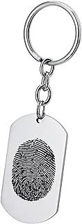 memorial thumbprint keychain