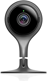Google Nest Cam inomhuskamera, svart. Säkerhet görs enkelt. Alla säsonger runt klockan på din smartphone.