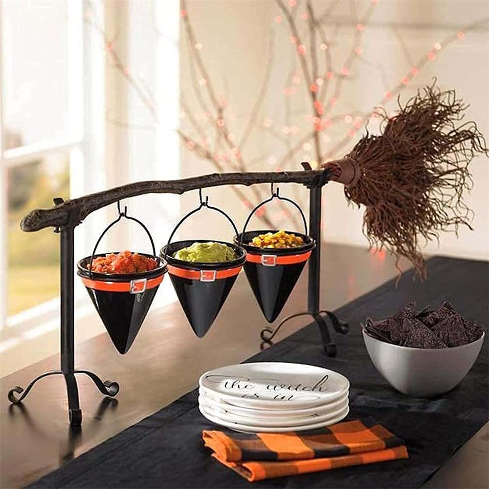Ploange Max 42% OFF 2021 New Broomstick Snack Bowl Bask with Removable Stand Directly managed store