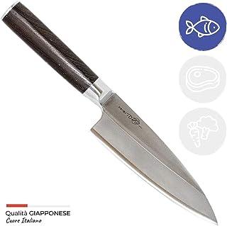 Totiko Japan Knives, cuchillo de cocina japonés profesional, Deba Sakai 16,5 cm - 5 pulgadas