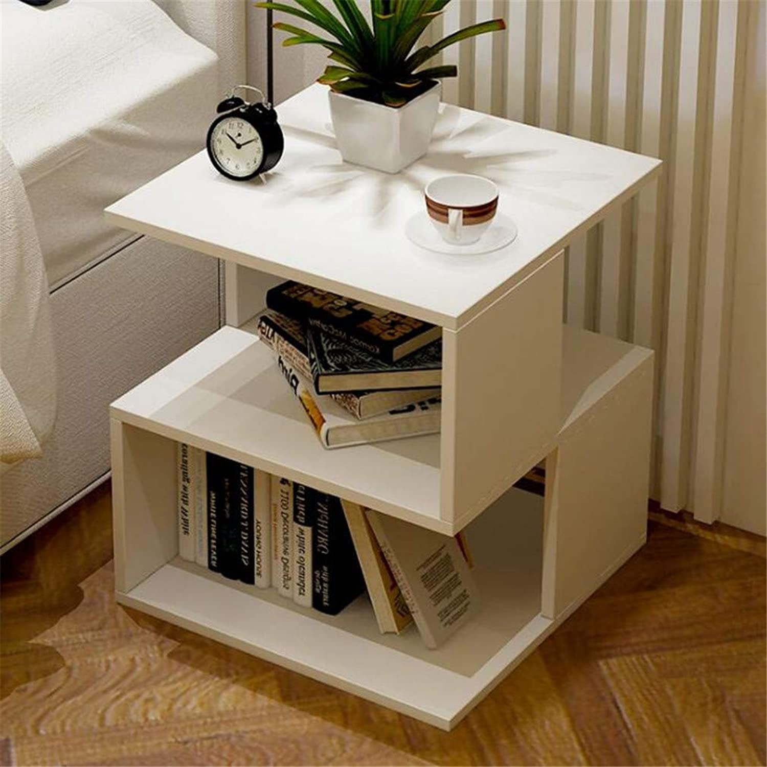 Simple Small Table Bedside Table Mini Mobile Small Coffee Table Living Room Sofa Bedroom 40x40x43.6cm C