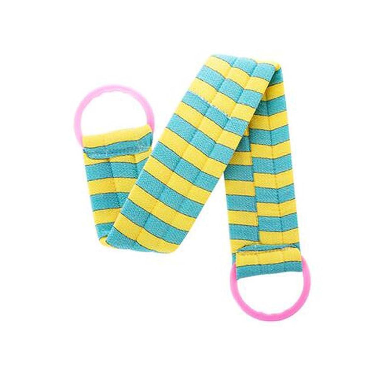 付添人損傷雨2枚のボディクリーニングのバスベルトタオルの剥離のバスベルト、青い黄色