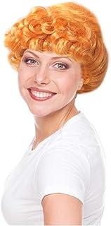 Costume Adventure Deluxe Cartoon Orange Gibson Style Character Wig