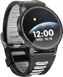 XYCSM Smart Watch Fitness Tracker Monitor de Ritmo Cardíaco Reloj Inteligente Hombres Mujeres Smartwatch para Android Ios/Gray