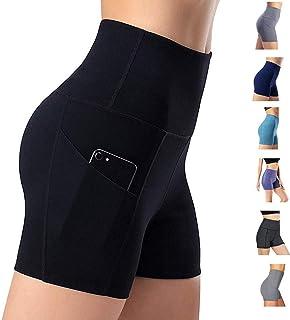 Leggings de yoga para mujer, cintura alta, bolsillos para control de barriga, pantalones de entrenamiento, pantalones casuales