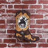CSS-LL 壁時計 壁掛け時計創造的なカウボーイブーツクロックホームリビングルームのレトロな装飾品、電子時計の装飾品時計