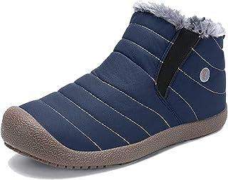 56d3660c49b4 ZIITOP Hommes Femmes Chaussures De Neige Bottes Hiver Bottines Fourrées  Chaudes Boots Baskets Lacets Plates d