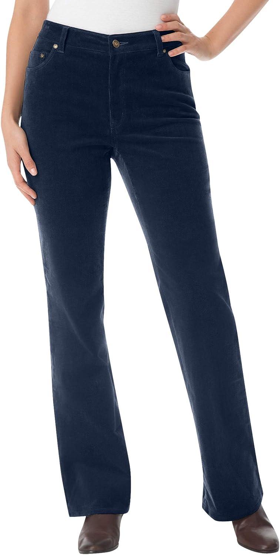 Woman Within Women's Plus Size Stretch Corduroy Bootcut Jean
