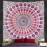 PPOU Mandala Tapiz Colgante de Pared Manta Bohemia decoración de la Pared del hogar Tela de Fondo Tela Colgante A7 130x150cm