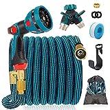 Best Expandable Garden Hoses - IDEALHOUSE 100FT Expandable Garden Hose, 10 Function Spray Review