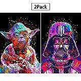 2er-Pack 5D Full Drill Star Wars Diamantmaler-Kit, UNIME DIY-Diamant-Gemälde-Kits für Erwachsene...