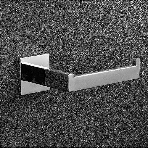 ZYC Juego de 3 ganchos para baño, acero inoxidable 304, color negro y cromado