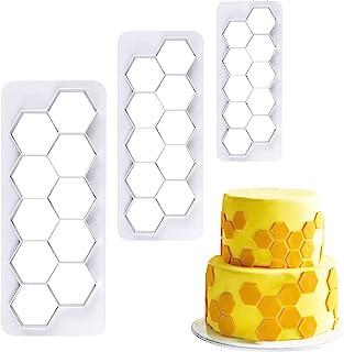 Hexagon Cookie Cutter - Geometric Multicutter- Football Cake Fondant Cutter - 3 Size,Hexagon Biscuit Cutters,Novel Creativ...