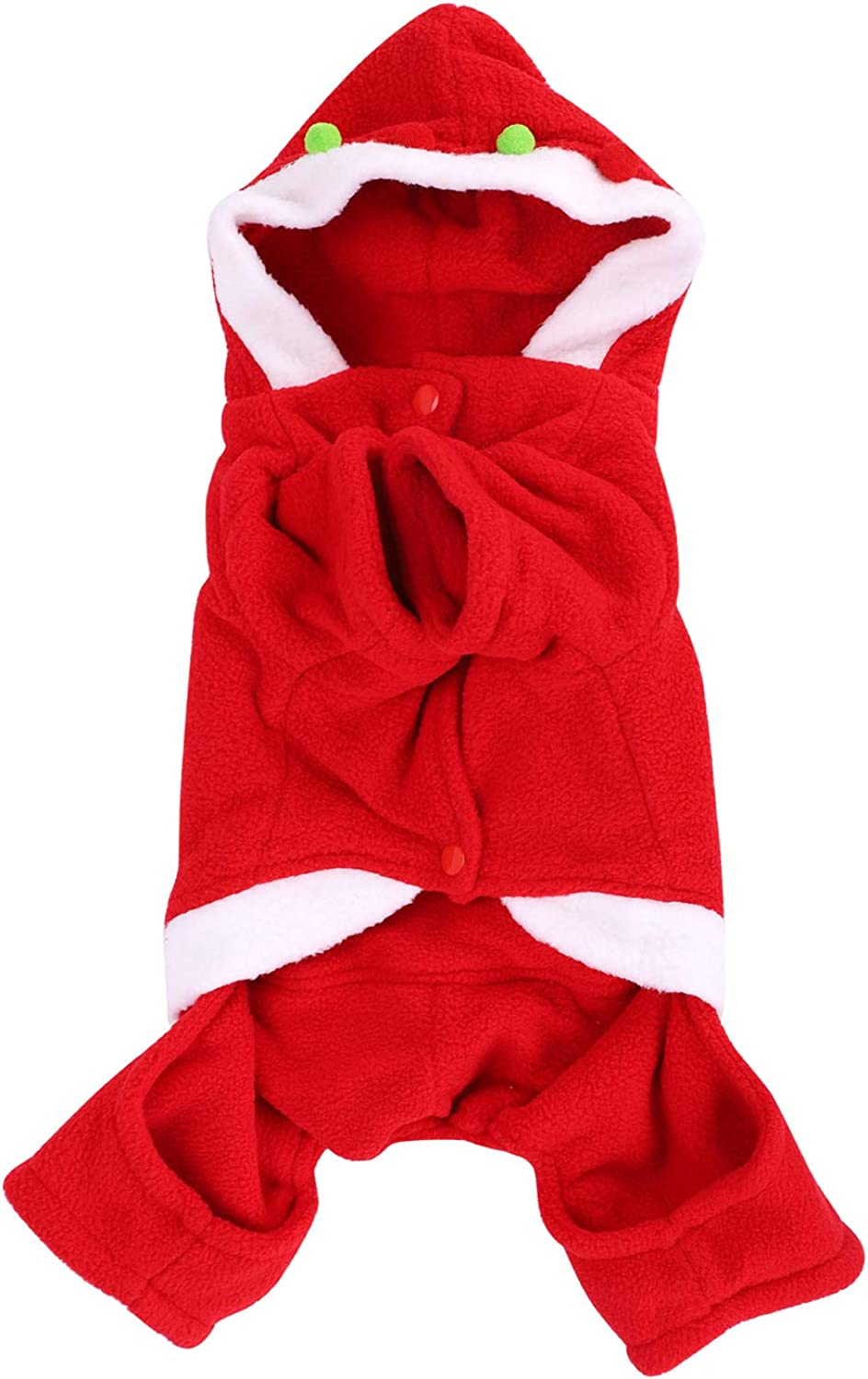 Pet Christmas Costumes Santa Dog Clothes Hoodied for Small Dogs Puppy Kitty Hoodies Pet Winter Sweatshirt Small Dog Christmas Warm Puppy Cat Clothing Coat Costume Apparel Hooded Puppy Santa Suit