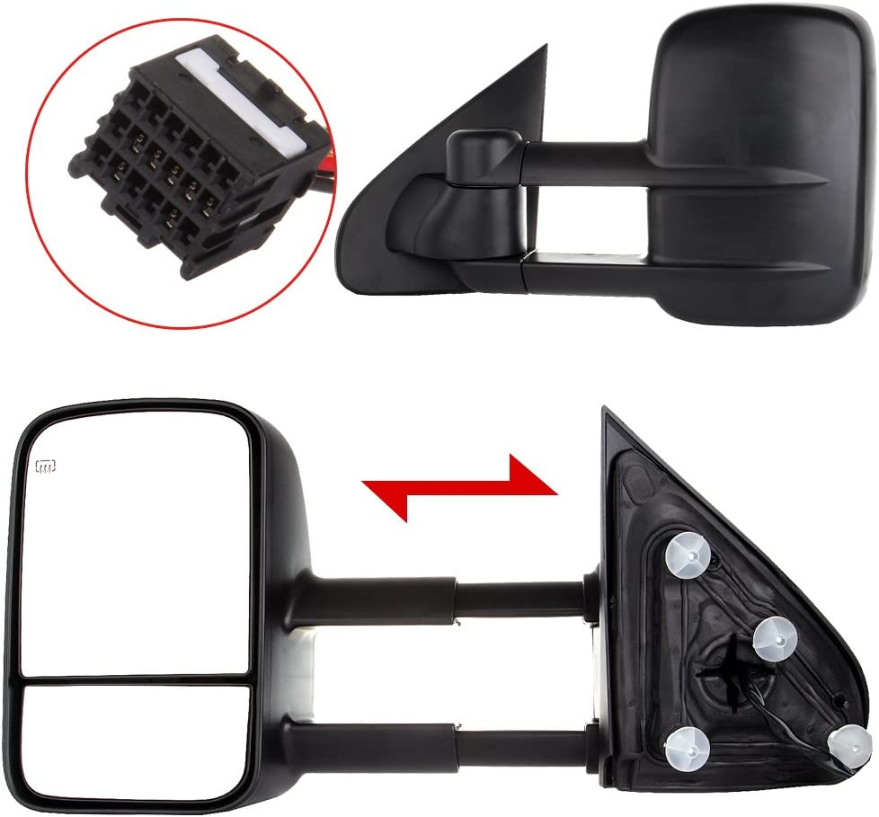 LSAILON Tow Mirrors Towing Fit for GMC 2014-2018 Chevy 1 Milwaukee Mall Sales for sale