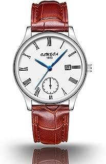 OLMECA Men's Watches and Women's Watches Fashion Dress Casual Simple Wristwatches Waterproof Quartz Women Watch Men Watch for Lover&Couple