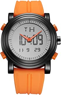 Mens Analog Digital Sport Watches with Alarm Stopwatch LED Backlight and Rubber Strap