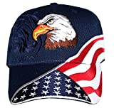 Red Earth Naturals American Flag Hat - USA Hat with 100,000 Embroidery Stitches Navy - Great Dad Gift