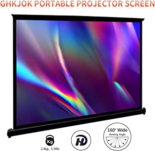 Projector Screen, Portable Projector Screen, Quick Pull Out Floor Standing Screen, Easy Assemble, Lightweight and Durable,...