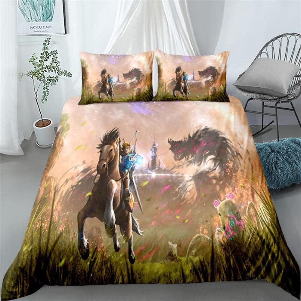 MJWLKJ Purchase Duvet Cover Dallas Mall Set Zelda Cove Bedding Print 3D Comforter