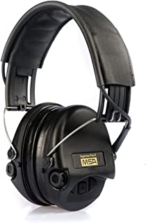 MSA Sordin Supreme Pro X - Premium Edition - Electronic Earmuff with black leather band, black cups and gel seals fitted