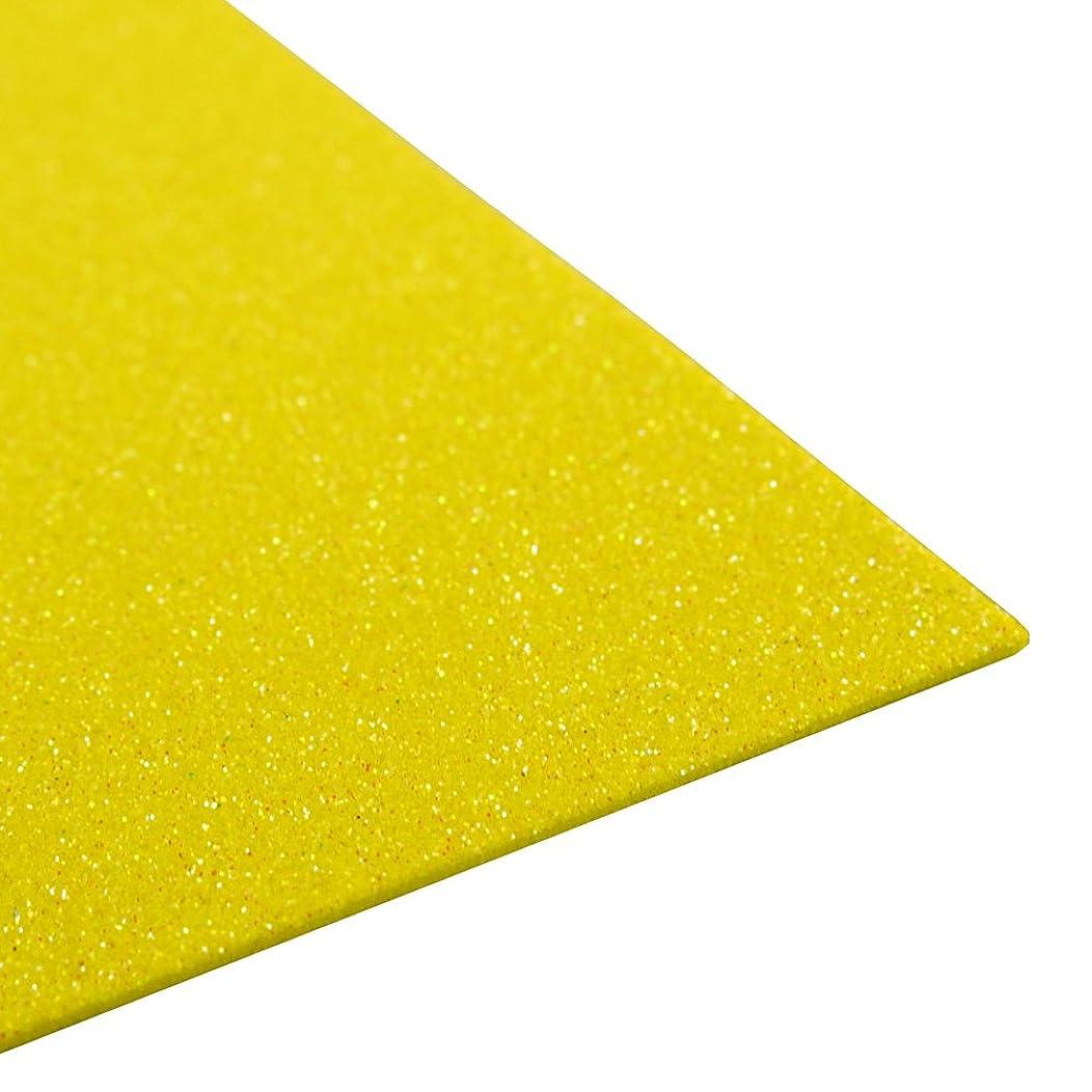 Homeford FNS000007392YELL Glitter EVA Foam Sheet, 9-1/2-Inch x 12-Inch, Yellow