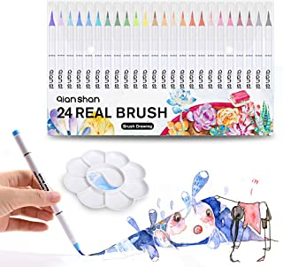 qianshan, Professional Watercolor Soft Flexible Tips for Adult Coloring Books Painting Drawing Manga Sketching Markers wit...